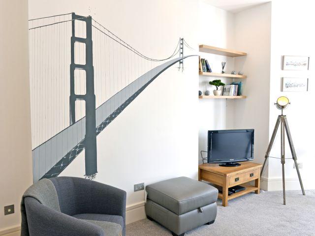Living area of Gresham House (1-bed)