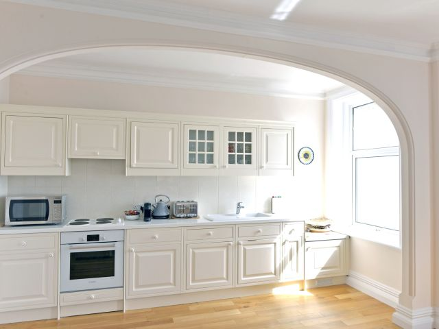 Kitchen of holiday apartment in Eastbourne