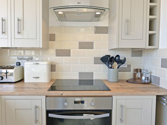 Kitchen of harbour view apartment