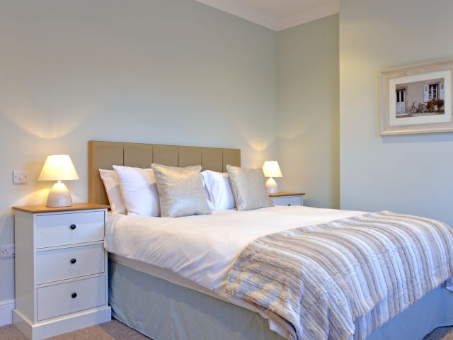 Master bedroom of St Mary's Cottage holiday home
