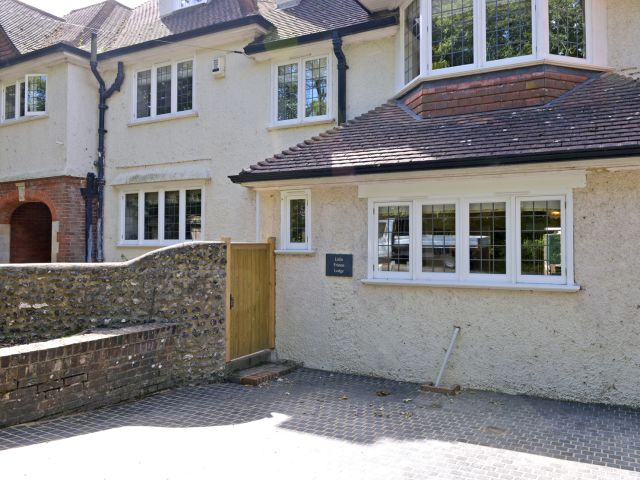 Private entrance to this popular South Downs cottage