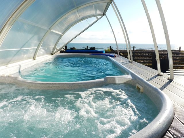 Swim spa with sea views