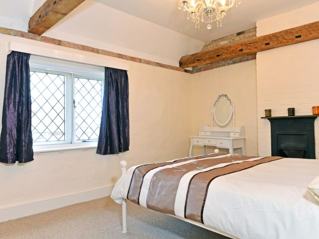 Master bedroom in South Downs holiday cottage
