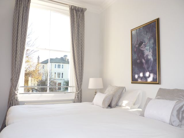 Master bedroom of holiday apartment