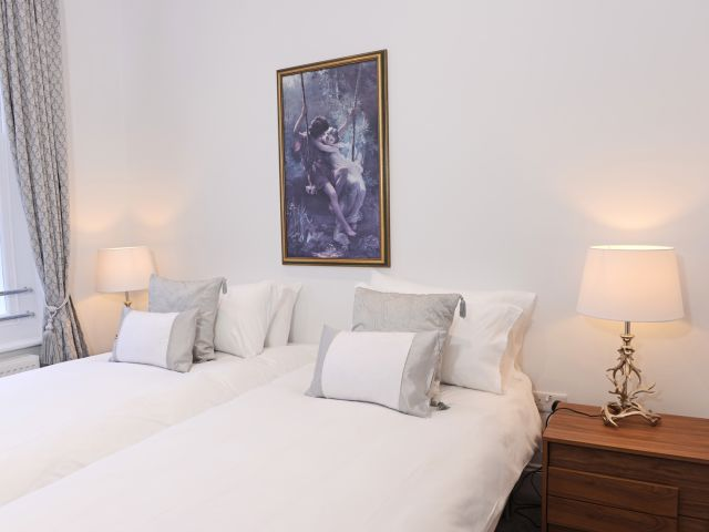 Twin bedroom of holiday apartment