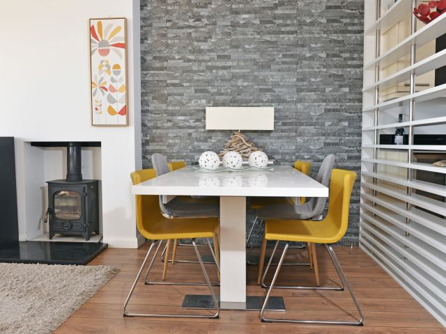 Dining area at Tides Cottage