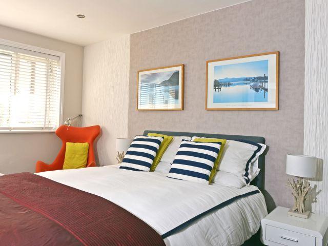 Master bedroom at Tides Cottage