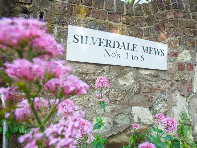holiday homes eastbourne Silverdale Mews sign