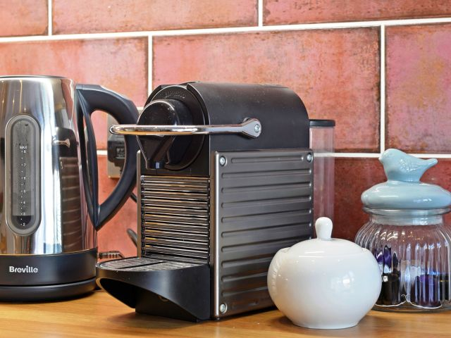 Nespresso machine in holiday home Eastbourne
