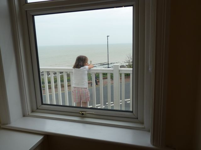 seafront apartment in eastbourne balcony from kitchen