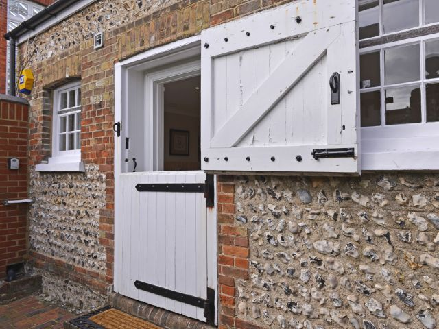 Stable door entry to Vine Cottage