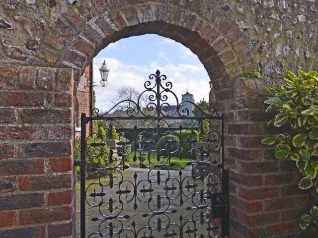 Gate opposite Vine leading to main house grounds