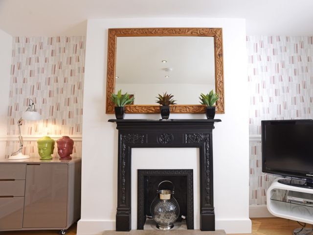 Lovely fireplace feature