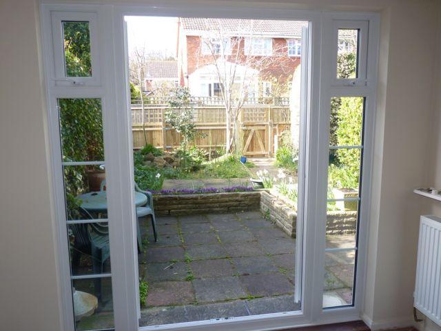 Garden through dining patio doors