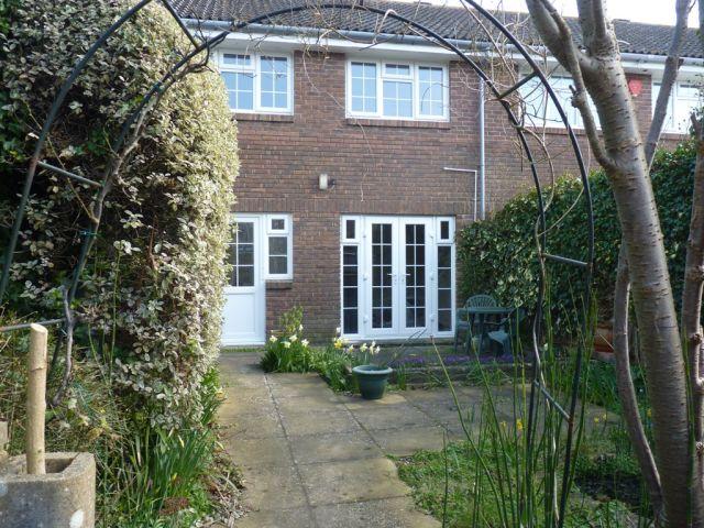 Exterior garden to house