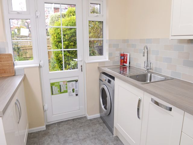 Kitchen of this holiday cottage in Eastbourne