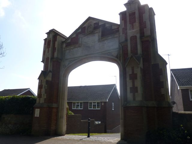 Exterior Ascham Arch