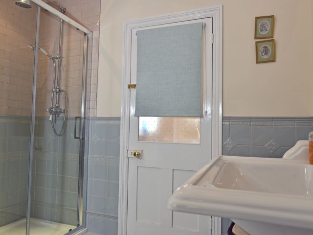 Shower room in countryside lodge