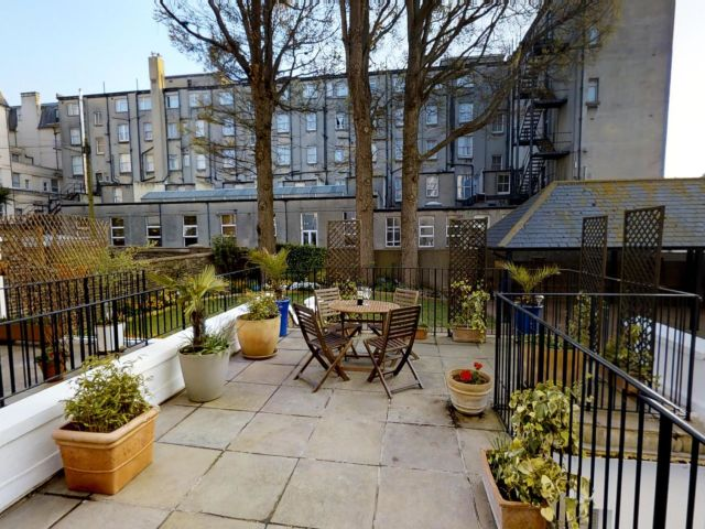 luxury holiday apartment eastbourne Patio main