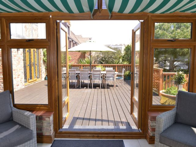 Conservatory view to decking