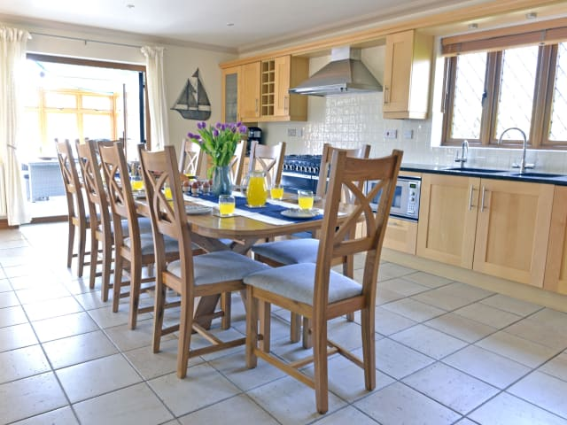 Kitchen seats up to 12