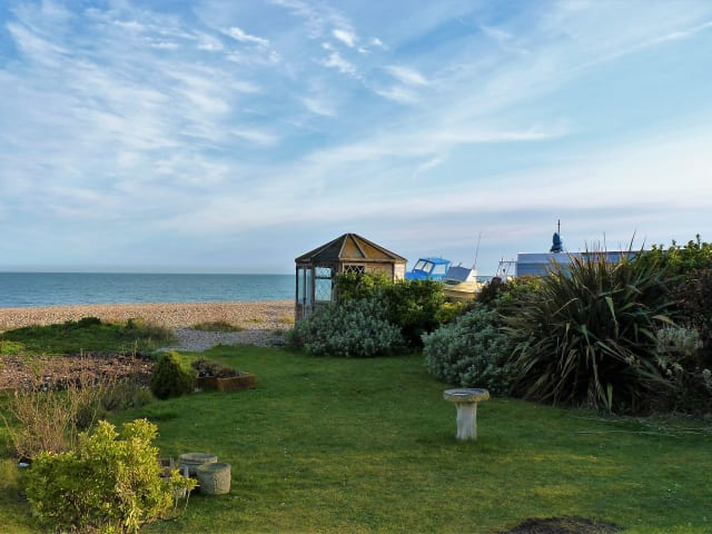 Garden view to beach and sea