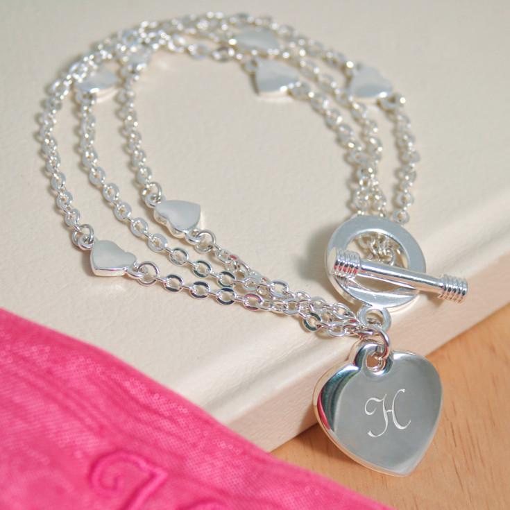 Heart Bridesmaid Charm Bracelet