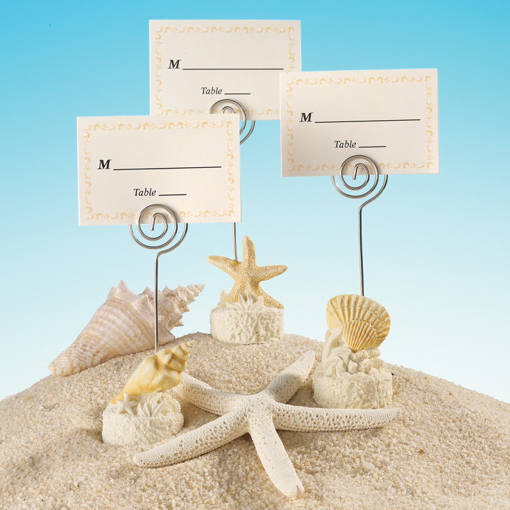 Beach Place Card Holder And
