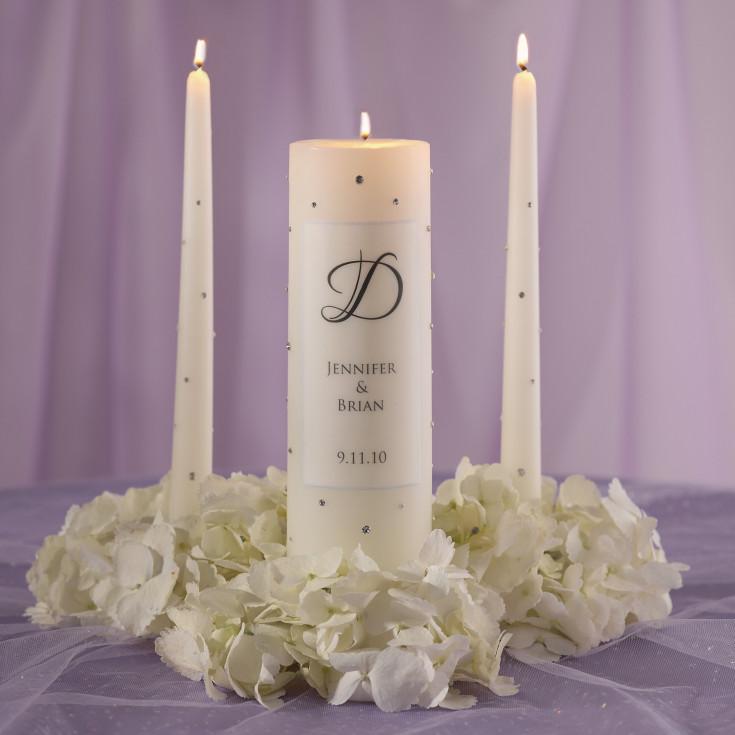 Candlelight Wedding Ceremony: Crystal Wedding Unity Candle