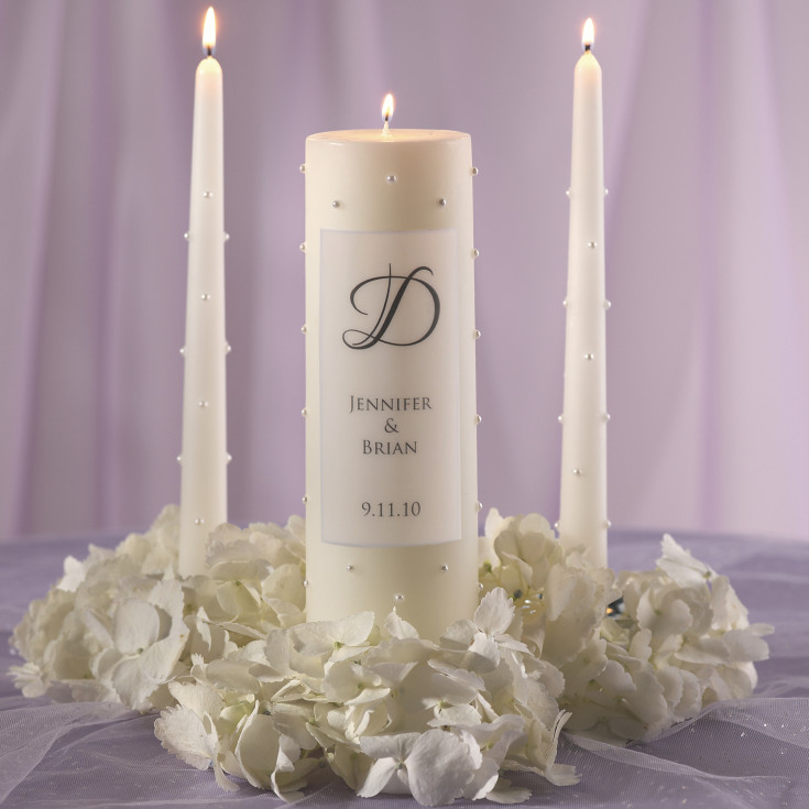 Wedding Candles: Pearl Wedding Unity Candle