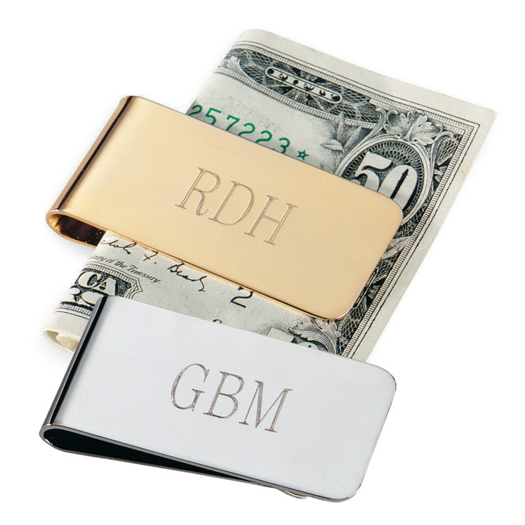 Wedding Gift For Bridesmaid: Goldplated Money Clip For Groomsmen