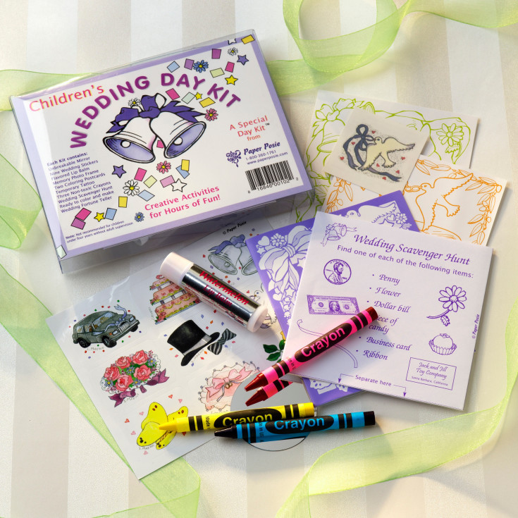 Wedding Attendants Gifts: Wedding Day Activity Kit For Young Attendants