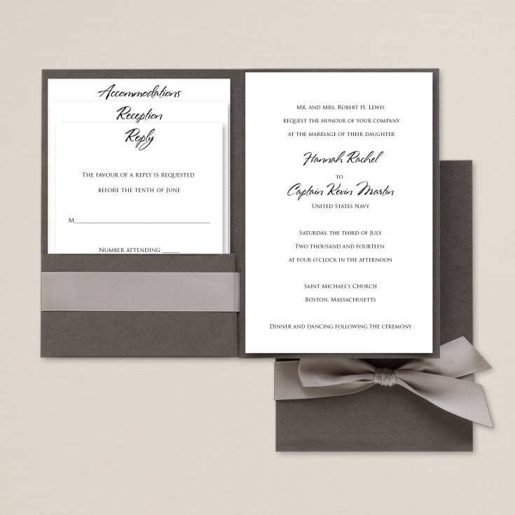 Story Guide To Wedding Invitation Wording: Love Story Wedding Invitation