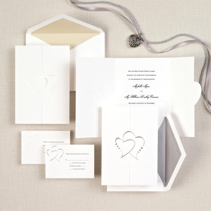 Heart Images For Wedding Invitations: Diamond Romance Wedding Invitation