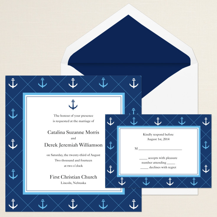 anchor wedding invitations anchor away wedding invitation 1298