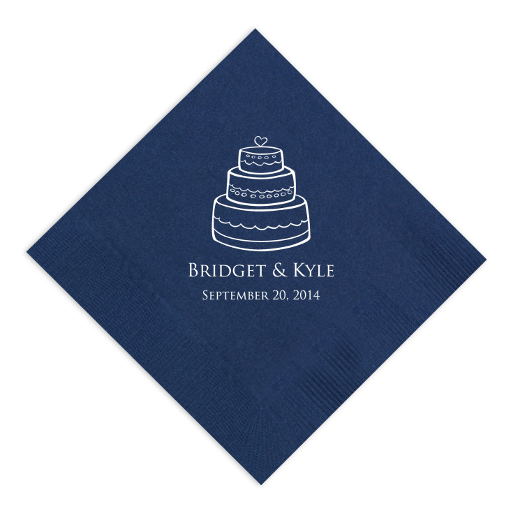 exclusively weddings classic wedding cake napkin. Black Bedroom Furniture Sets. Home Design Ideas
