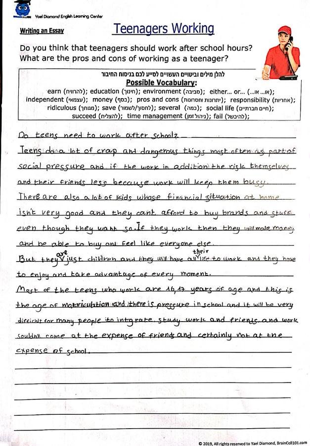 Argumentative essay sample high school