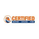 Certified Water Smoke Fire