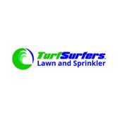 Turf Surfers Lawn and Sprinkler