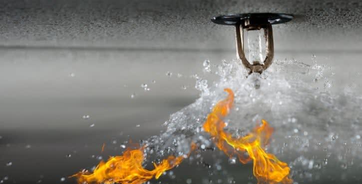 Водяная установка пожаротушения.