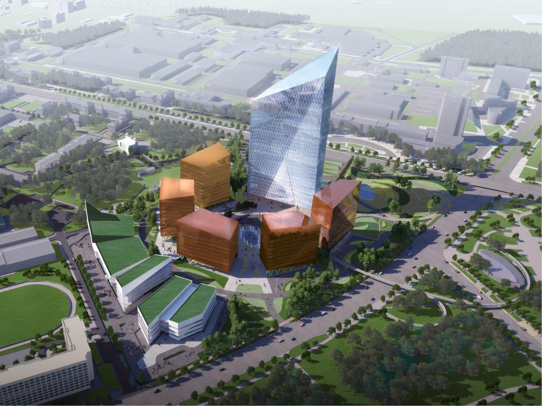 Строительство МФК «Газпром центр»