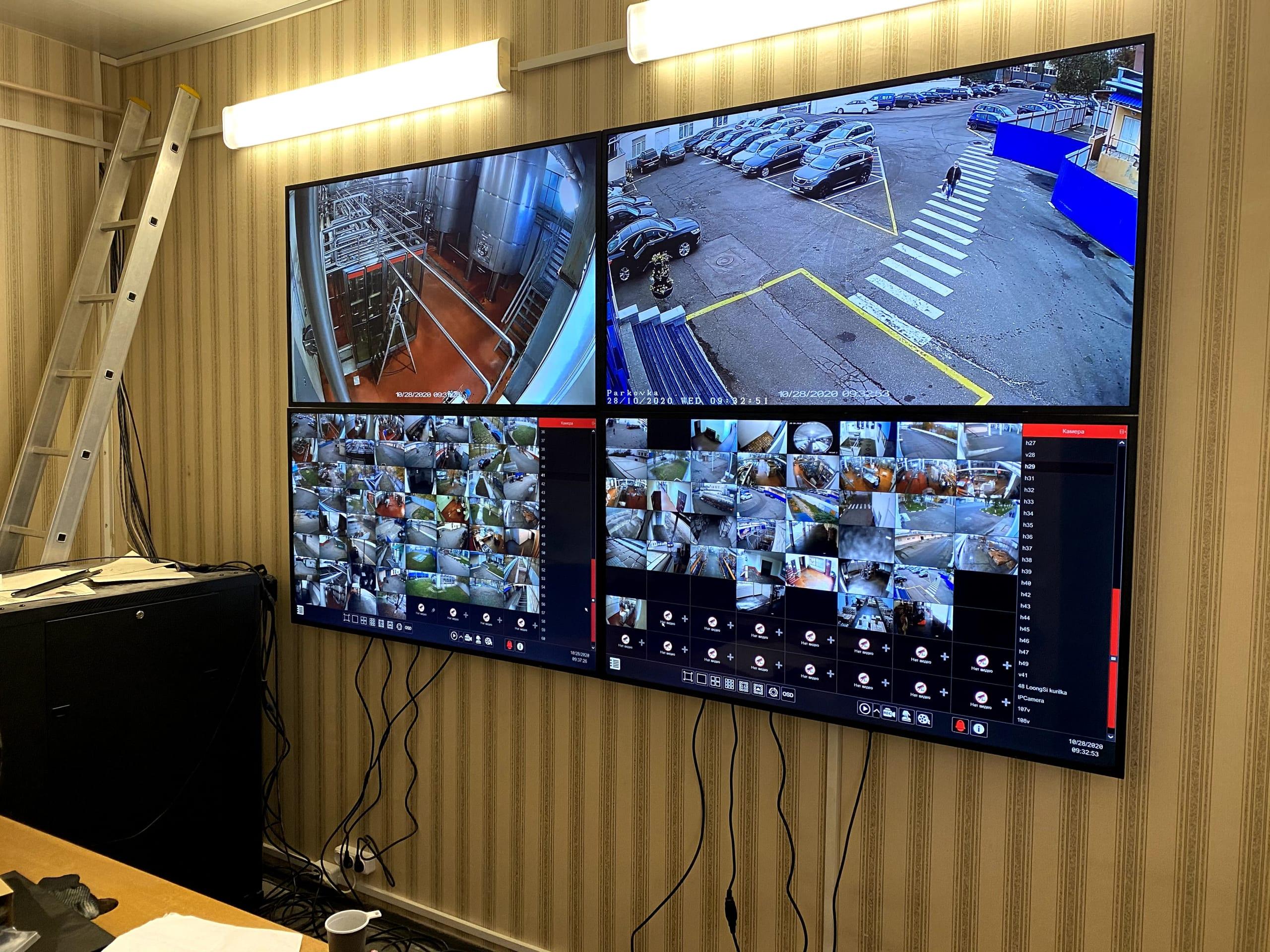 Монитор для контроля за периметром охраняемой территории