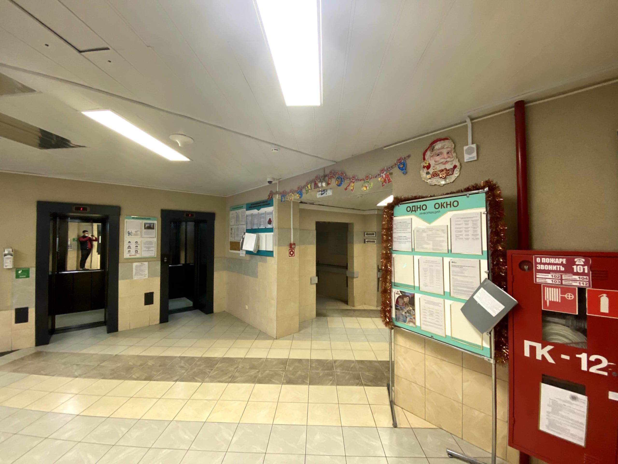 Система пожарной сигнализации в больничном помещении