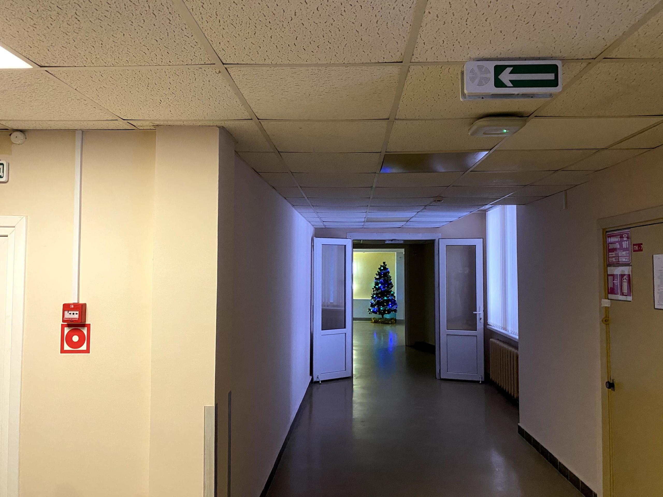 Пожарная сигнализаци в здании больницы