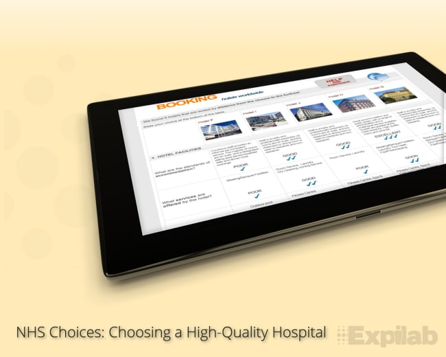 Case-study. NHS Choices. Behavioral experients. Nudges and choice architecture.