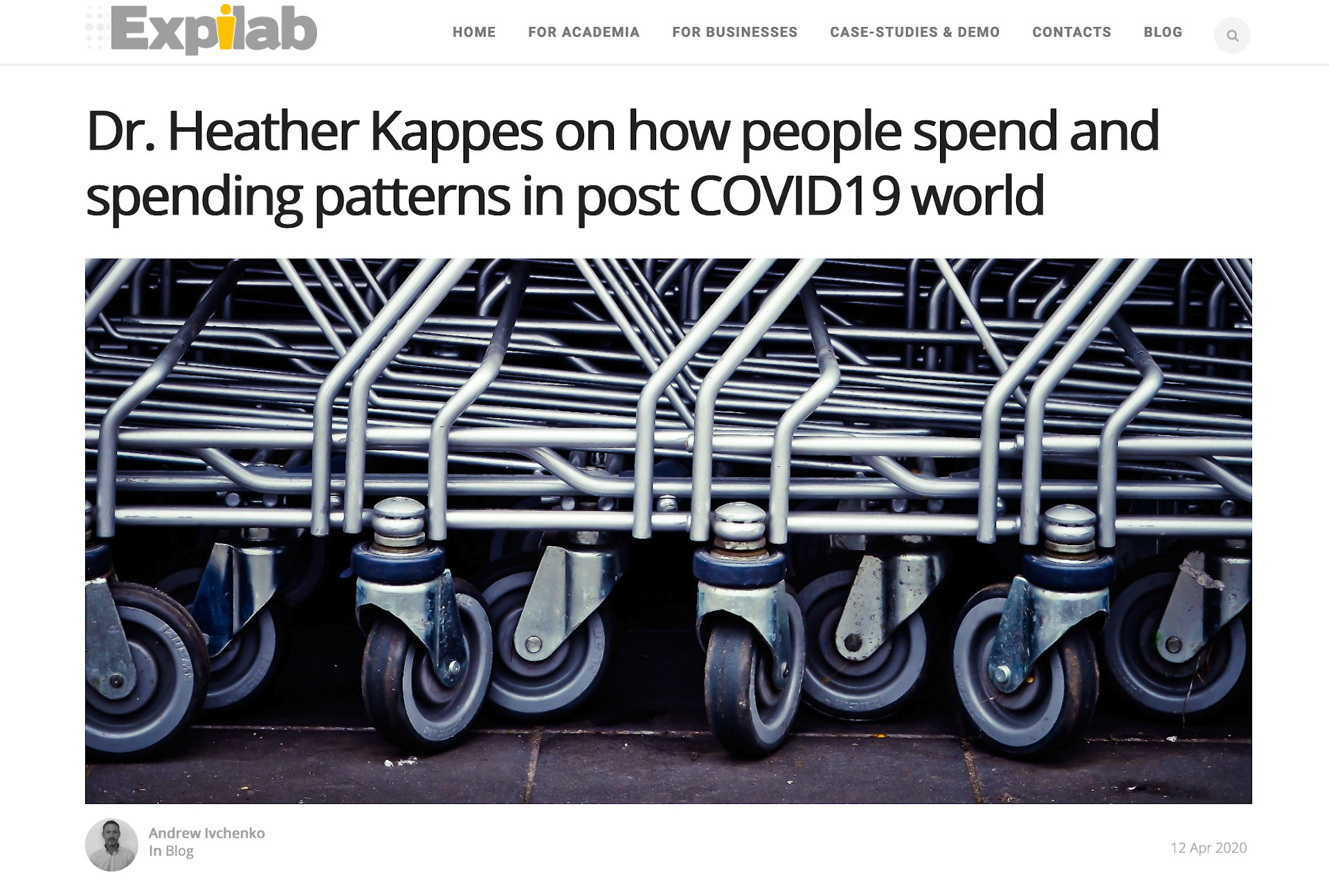 Dr. Heather Kappes on how people spend and spending patterns in post COVID19 world