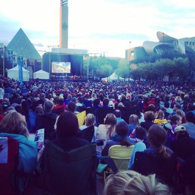 Churchill Square, Edmonton, AB - Symphony in the City - ESO Disney Concert