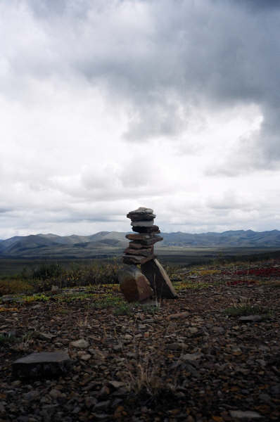Inukshuk on the Dempster Highway, Yukon