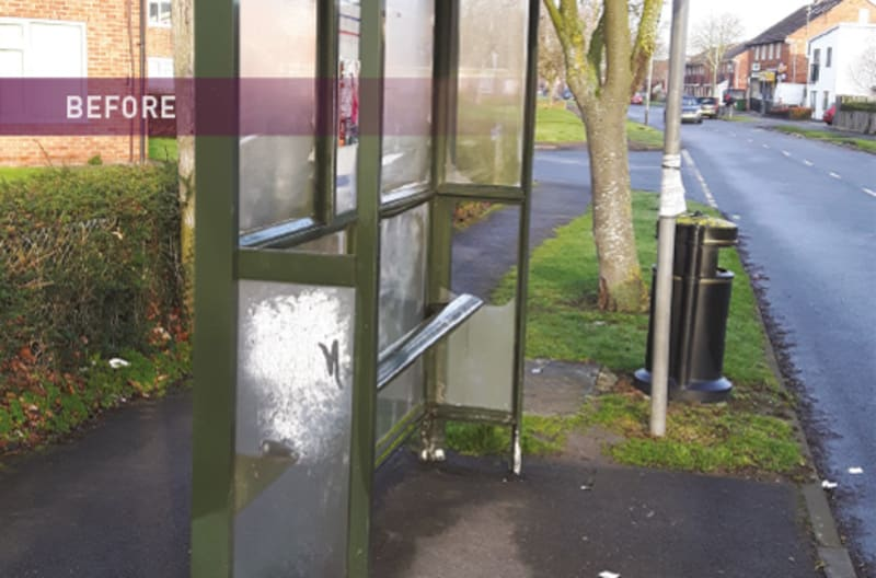 Bus Shelter Refurbishment - Before 3