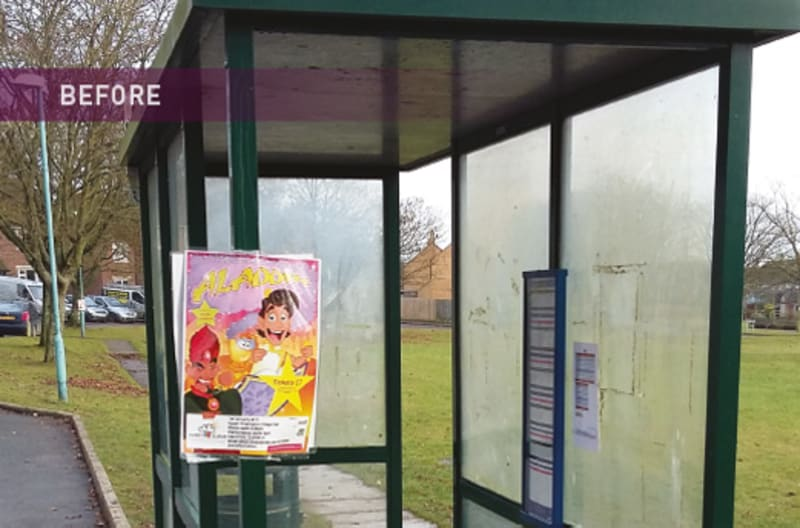 Bus Shelter Refurbishment - Before 4